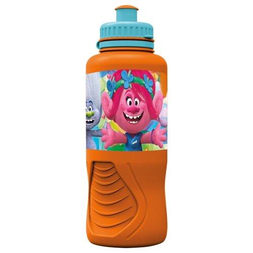 Бутылка для воды, для безалкогольных напитков Stor Тролли 2 0.4 пластик оранжевый