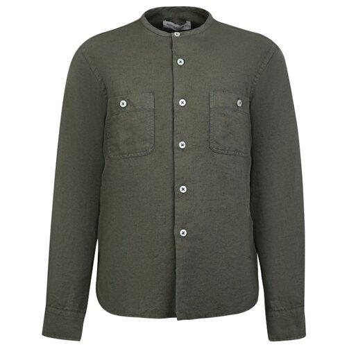 Купить Рубашка Paolo Pecora размер 174, хаки, Рубашки