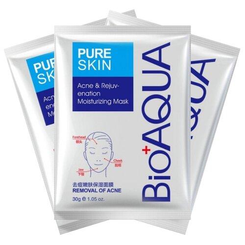 Купить BioAqua Маска для лица Pure Skin Acne & Rejuvenation Moisturizing Mask, 30 г, 3 шт.