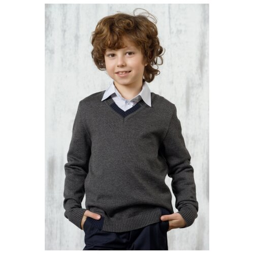 Фото - Пуловер VAY размер 158, серый жилет vay размер 42 158 37 7103 серый