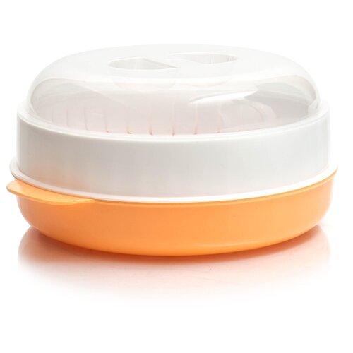 Пароварка для СВЧ ПОЛИМЕРБЫТ 4385000 белый / оранжевый
