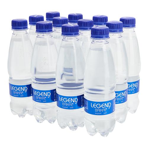 Вода питьевая Legend of Baikal глубинная негазированная, пластик, 12 шт. по 0.33 л