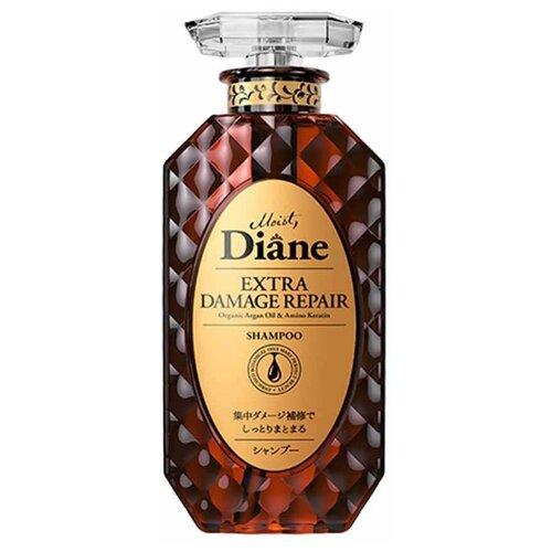 Moist Diane шампунь Extra Damage Repair Глубокое восстановление бессиликоновый, 450 мл