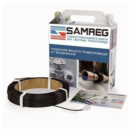 Греющий кабель саморегулирующийся SAMREG 16-2CR 12 м