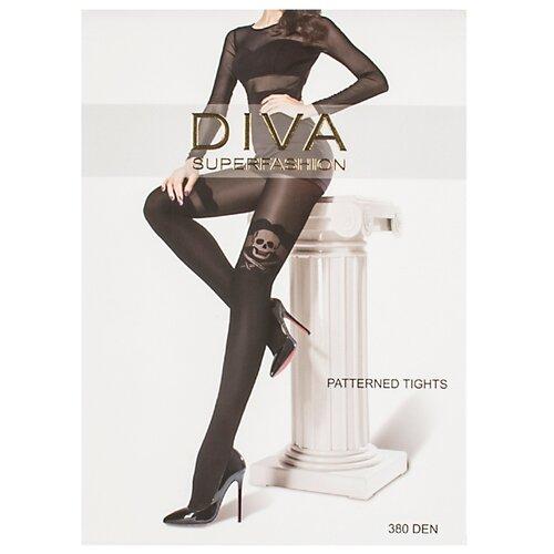 Колготки DIVA SUPERFASHION DK-63 380 den, размер free size, черный колготки diva superfashion secret 128 380 den размер free size черный черный