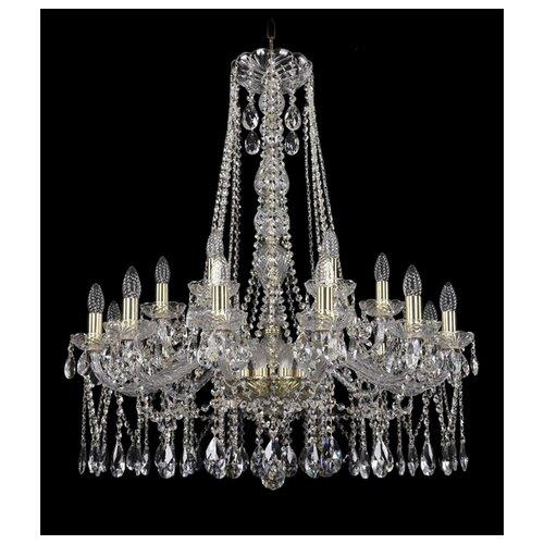 Фото - Люстра Bohemia Ivele Crystal 1413 1413/12+6/300/h-95/G, E14, 720 Вт люстра bohemia ivele crystal 1413 18 400 g e14 720 вт