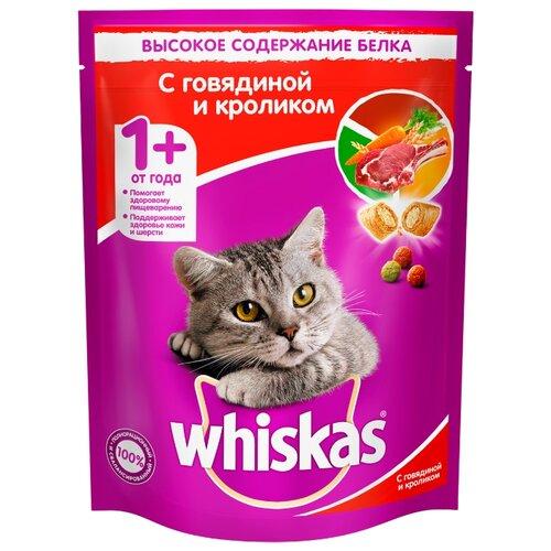 Сухой корм для кошек Whiskas с кроликом, с говядиной 800 г