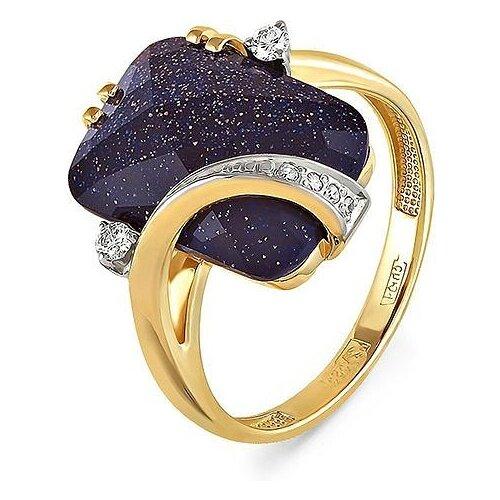 Фото - KABAROVSKY Кольцо с авантюрином и бриллиантами из жёлтого золота 11-2755-1300, размер 17.5 кольцо с авантюрином и бриллиантами из жёлтого золота