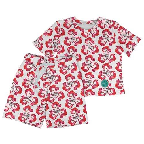 Купить Пижама Marengo Textile размер 140, белый/красный, Домашняя одежда