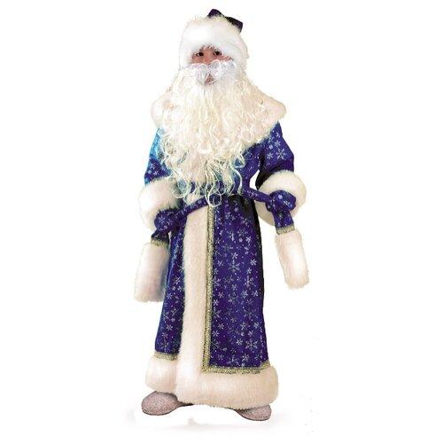 Фото - Костюм Батик Дед Мороз плюш (178/178-1), синий/белый, размер 128 костюм батик герцогиня 1903 красный белый размер 128