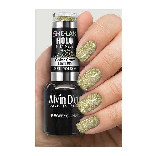 Купить Гель-лак для ногтей Alvin D'or She-Lak HoloPrism, 8 мл, оттенок 7215