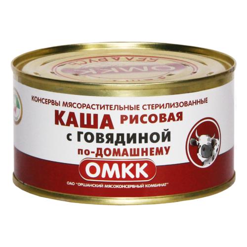 ОМКК Каша рисовая с говядиной по-деревенски 325 г