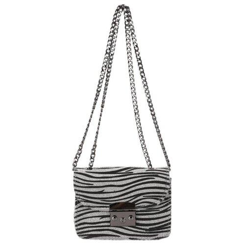 Сумка кросс-боди OrsOro, искусственный мех, серый пони сумка тоут orsoro cw 967