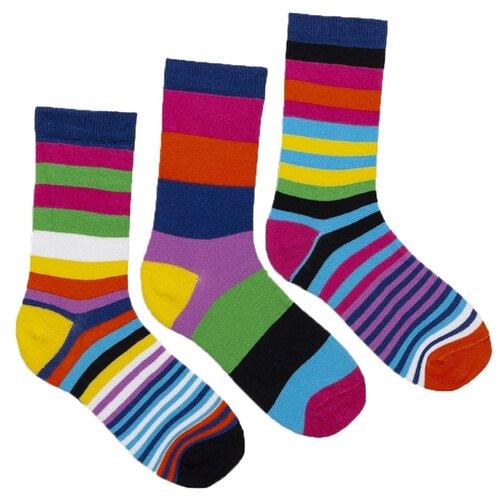 Носки Lunarable Полоски, 3 пары, размер 35-39, разноцветный