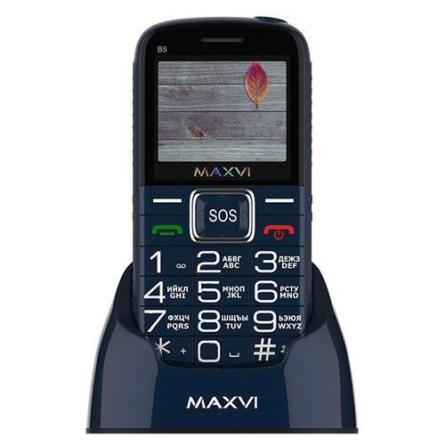 Телефон MAXVI B5 синий телефон maxvi b5