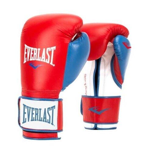 Боксерские перчатки Everlast Powerlock PU red/blue 10 oz