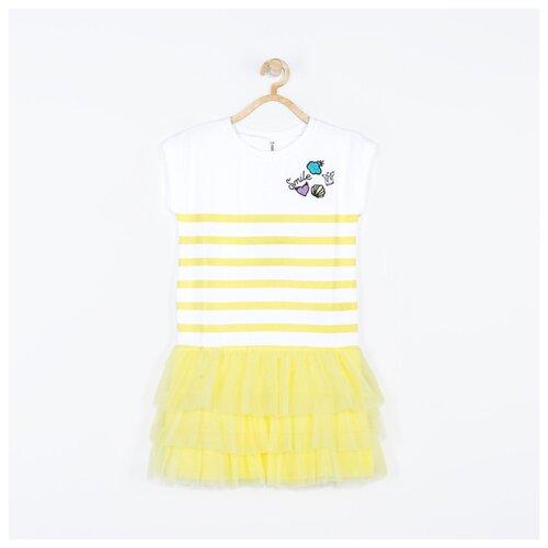 Платье COCCODRILLO размер 104, желтый платье smena размер 104 56 синий желтый