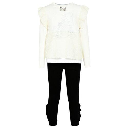 Комплект одежды Simonetta размер 174, кремовый/черный платье simonetta размер 174 черный