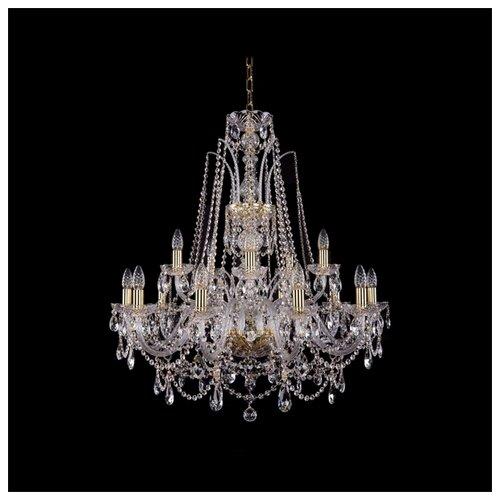 Люстра Bohemia Ivele Crystal 1411 1411/10+5/300/G, E14, 600 Вт