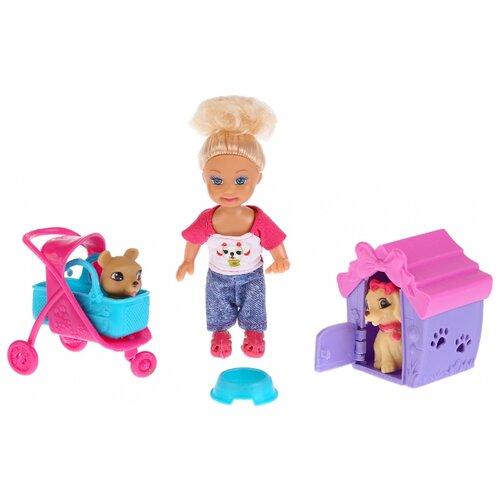Купить Кукла Карапуз Машенька с питомцами, 12 см, MARY021X-RU, Куклы и пупсы
