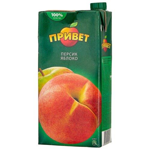 Напиток сокосодержащий Привет Яблоко-Персик, 1.93 л