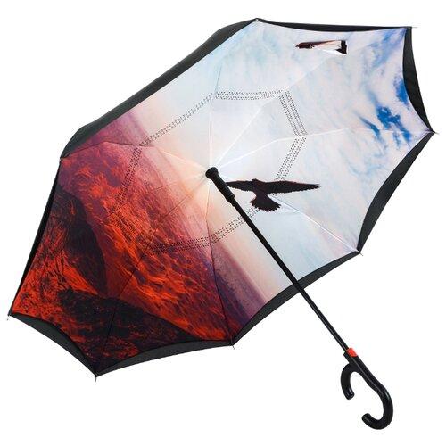 Зонт полуавтомат Maple Leaf Eagle черный/оранжевый/белыйЗонты<br>