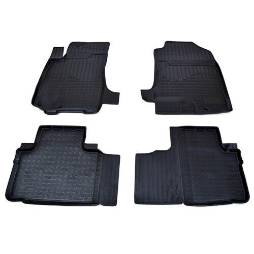 Комплект ковриков NorPlast NPA11-C29-210 4 шт. чёрный