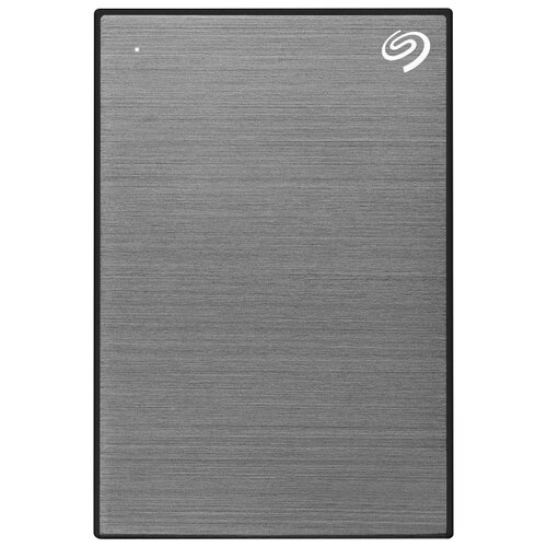 Фото - Внешний HDD Seagate Backup Plus Slim Portable Drive 1 ТБ серый космос внешний hdd seagate backup plus slim portable drive 1 тб черный