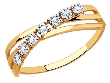 SOKOLOV Кольцо из золота 018396, размер 16.5