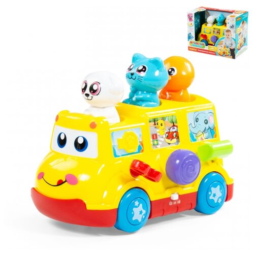 Купить Игрушка развивающая Школьный автобус , Полесье, Развивающие игрушки