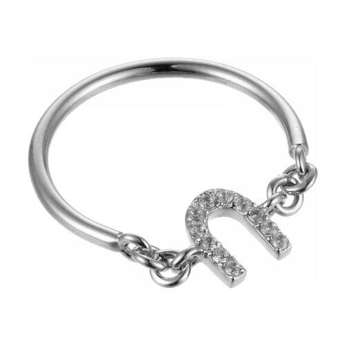 JV Кольцо с фианитами из серебра R140163A-001-WG, размер 18 jv кольцо с фианитами из серебра dm2077r 001 wg размер 18