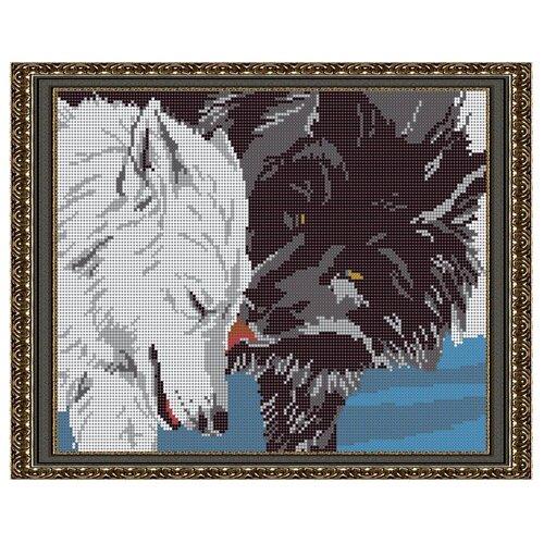 Светлица набор для вышивания бисером Волки 24 х 30 см, бисер Чехия (552П)