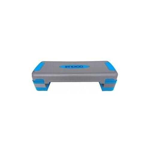 Степ-платформа Indigo IN169 80х31х20 см серый/синий