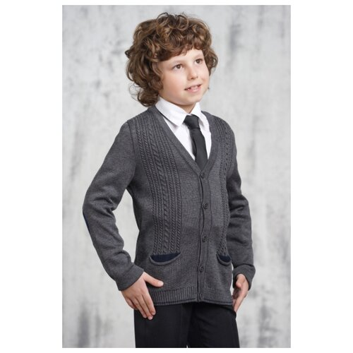 Купить Кардиган VAY размер 152, серый, Свитеры и кардиганы
