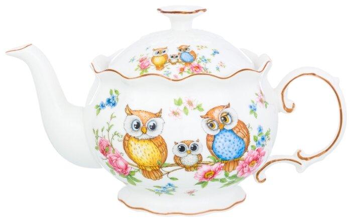 Купить Чайник 22х12,5х13 см 700 мл Elan Gallery Совушки по низкой цене с доставкой из Яндекс.Маркета (бывший Беру)