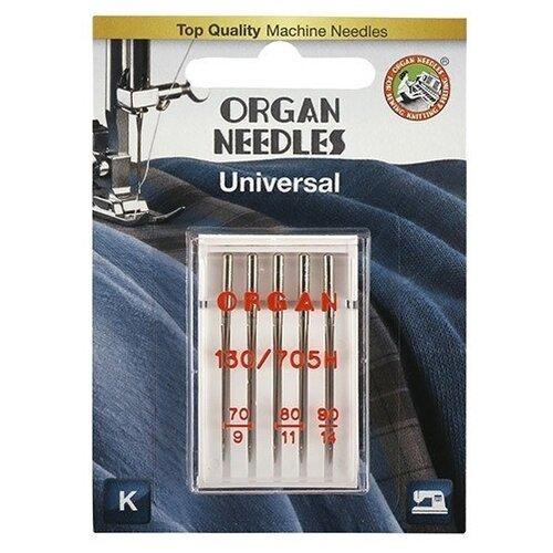 Игла/иглы Organ Universal 70-90 серебристый