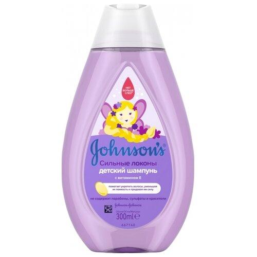 """Johnson's Baby Шампунь """"Сильные локоны"""" с витамином Е 300 мл"""