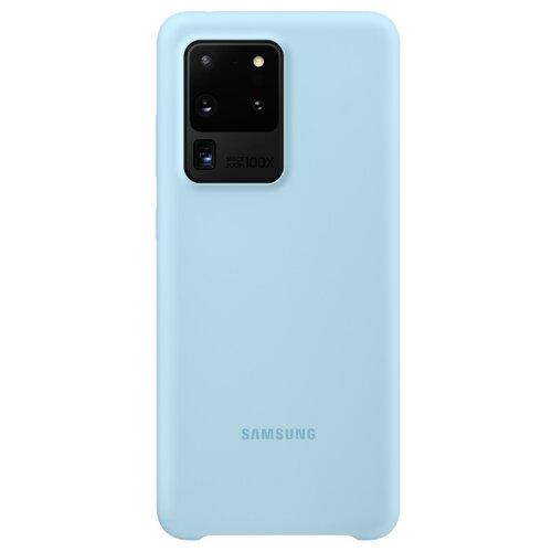 Чехол-накладка Samsung EF-PG988 для Galaxy S20 Ultra, Galaxy S20 Ultra 5G голубой чехол накладка samsung ef pg988 для galaxy s20 ultra galaxy s20 ultra 5g серый