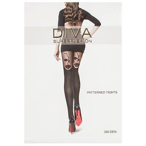 Колготки DIVA SUPERFASHION DK-62 380 den, размер free size, черный колготки diva superfashion secret 128 380 den размер free size черный черный