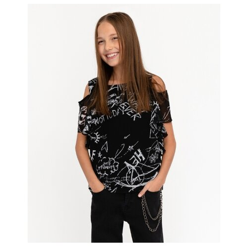 Блузка Gulliver размер 134, черный