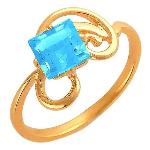 Эстет Кольцо с 1 топазом из красного золота 01К313541-2, размер 16.5 фото
