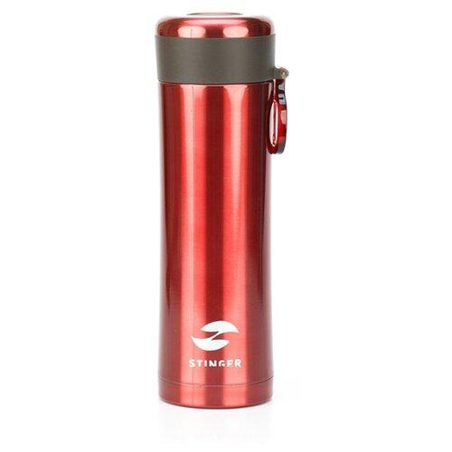 Термокружка Stinger, 0,42 л, сталь/пластик, красный матовый, 7,5 х 6,9 х 22,2 см