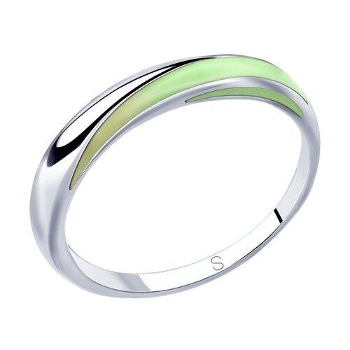 SOKOLOV Кольцо из серебра с эмалью 94012812, размер 17.5