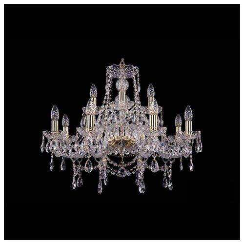 Люстра Bohemia Ivele Crystal 1411 1411/8+4/240/G, E14, 480 Вт bohemia ivele crystal подвесная люстра 1411 12 380 72 g