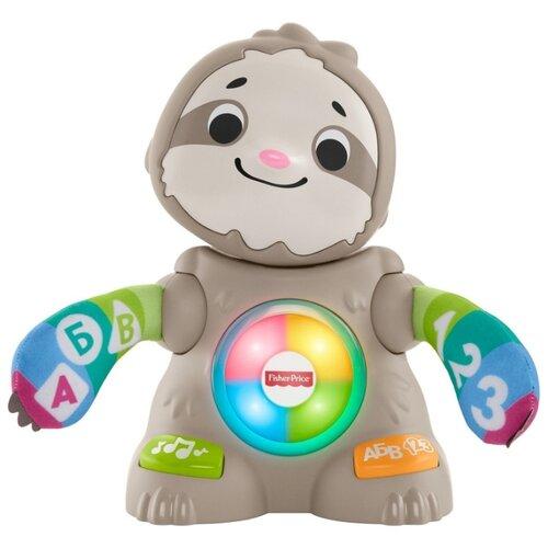 Купить Интерактивная развивающая игрушка Fisher-Price Танцующий ленивец (GHY96) серый, Развивающие игрушки