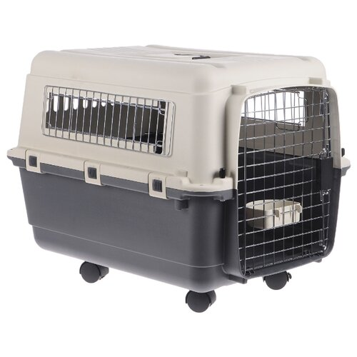 Клиппер-переноска для собак Triol Premium Medium 68х51х47 см серый/белый сумка переноска для собак triol лаура 46х26 5х28 см голубой серый