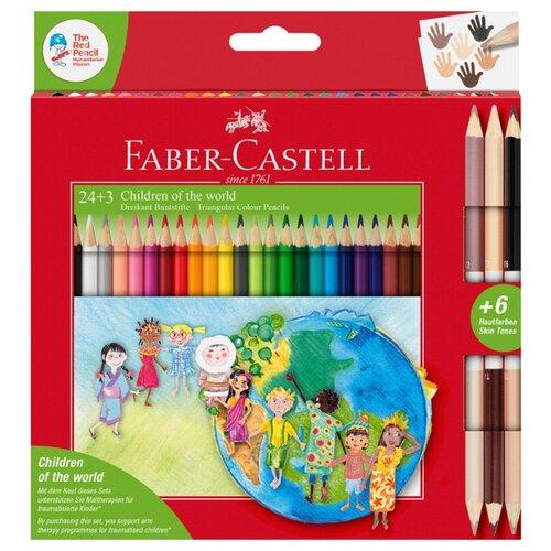 Купить Faber-Castell Карандаши цветные Дети мира 30 цветов (201745), Цветные карандаши