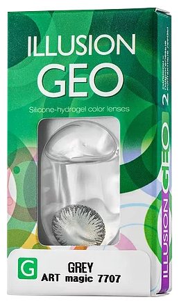 Купить Контактные линзы ILLUSION Geo Magic (2 линзы) R 8,6 D -3 grey по низкой цене с доставкой из Яндекс.Маркета (бывший Беру)