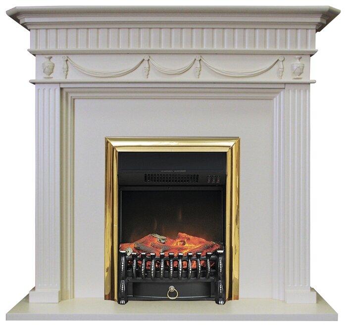 Электрический камин Royal Flame Corfu + Fobos BR слоновая кость