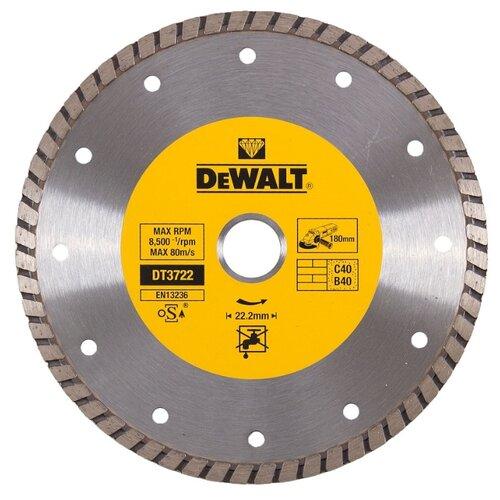 Диск алмазный отрезной 180x7x22.2 DeWALT DT3722-QZ 1 шт. алмазный диск отрезной dewalt dt90294 125 x 22 2 h 12м dt90294 qz
